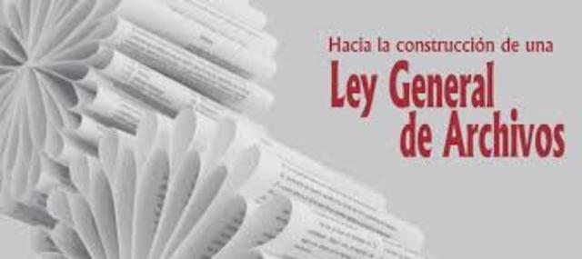 Ley General de Archivos:
