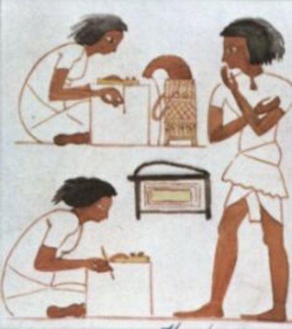 Libro contable en egipto