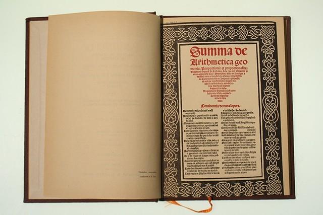 Se publica el libro llamado SUMMA