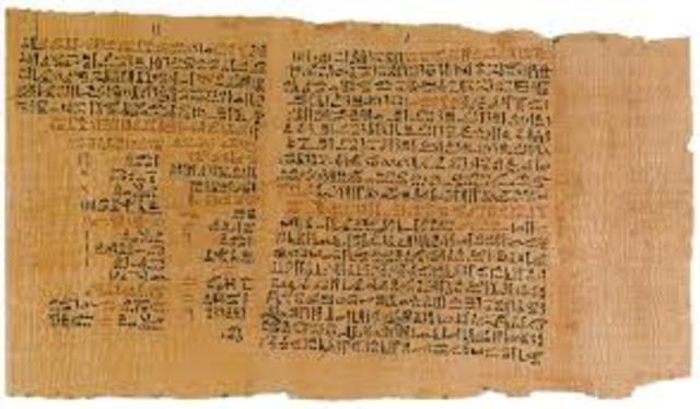 PAPIRO EGIPCIO 600 A.C
