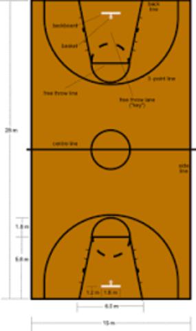 Se regulan las faltas personales, determinándose como sanción dos tiros libres en caso de que el jugador estuviera realizando un lanzamiento y un tiro libre para faltas técnicas Se establecen  como medida de terreno de juego: 25x15 m.