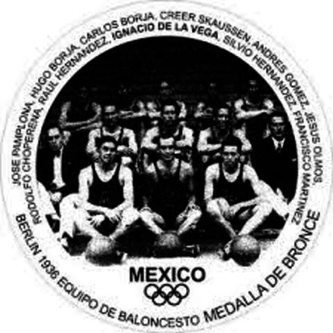 la seleccion mexicana de baloncesto gano bronce en los juegos olimpicos de verano de ese año en Berlin