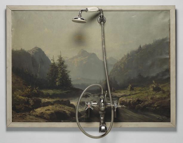 Daniel Spoerri - La douche (détrompe l'oeil)