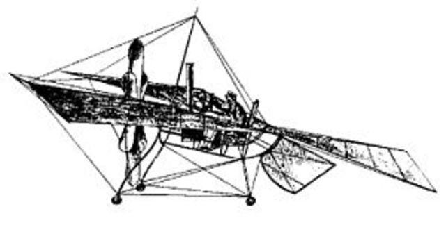 Primer vuelo tripulado con motor.