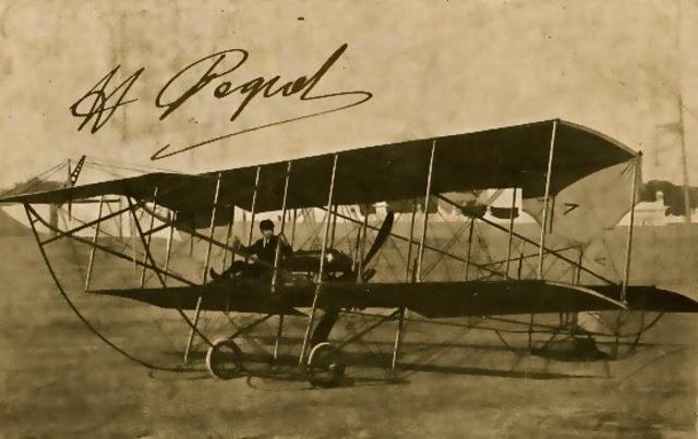 Primer correo aéreo.