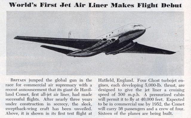 Primer avión comercial.