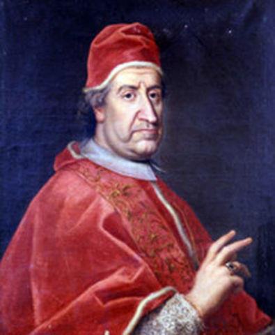 El Papa Clemente XI declara a Carlos III como rey de España