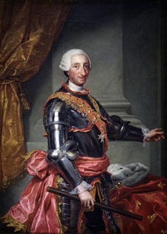 Carlos III, se proclama rey de España