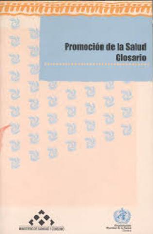 Glosario términos de Promoción de la Salud.