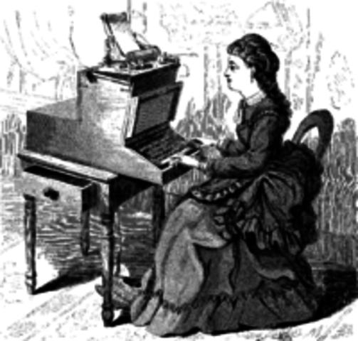 Máquina de escribir con éxito comercial real
