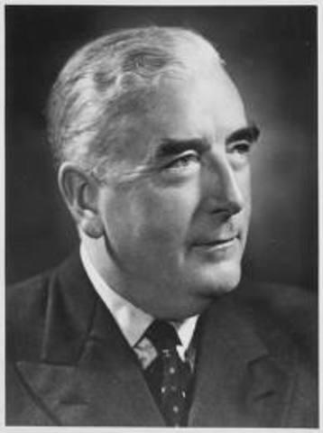 Sir Robert Menzies resigns