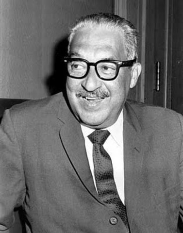 The U.S. Senate confirmed the appointment of Thurgood Marshall as the first black justice on the U.S. Supreme Court.
