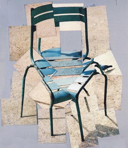 David Hockney - Une chaise, jardin du Luxembourg, Paris, 10 août 1985