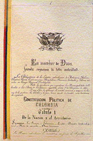 Firma de la Constitución de 1886