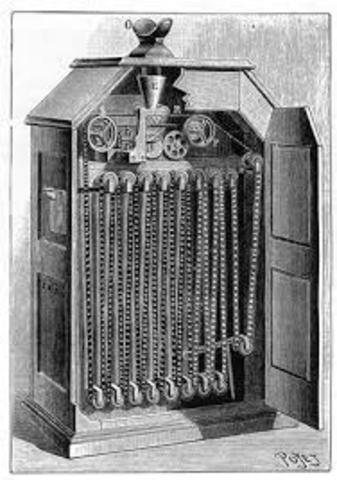 Aparece otro invento de la compañía de Edison, llamado el kinetoscopio. En este aparato voluminoso se pasan imágenes que al activar una manivela adoptan movimiento. Es un aparato diseñado para un solo espectador.