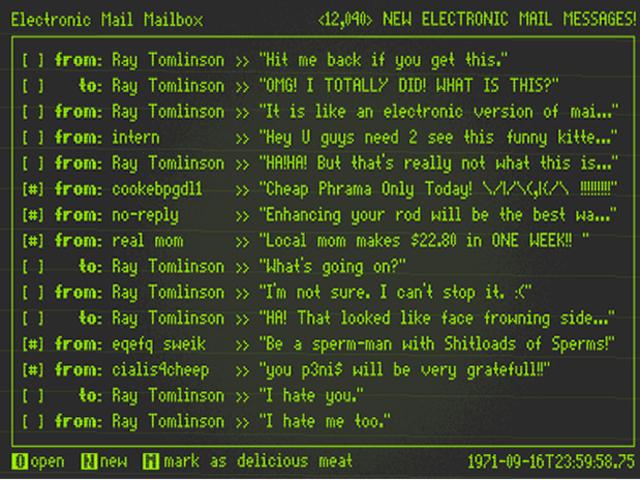 Envío del primer correo por Ray Tomlinson.
