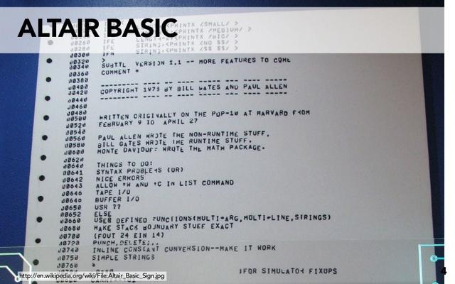 Bill Gates y Paul Allen crean Altair Basic