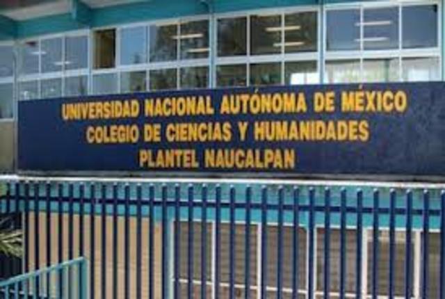 ingreso UNAM CCH Naucalpan.