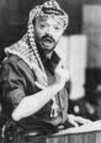 Yasser Arafat becomes PlO leader.