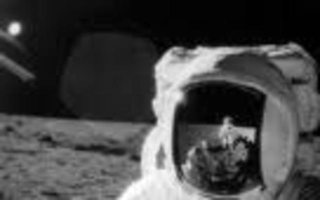 Apollo 12 lands on the Moon