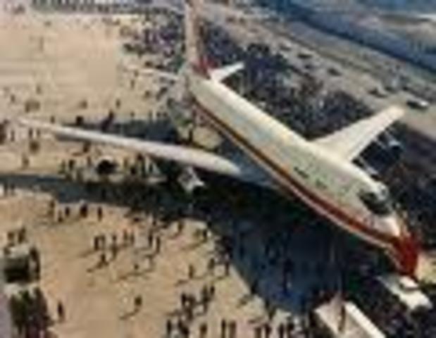 747 debut with civillians.