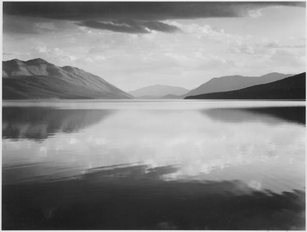 Ansel Adams - Soirée, Lac McDonald, Parc National Glacier, Montana
