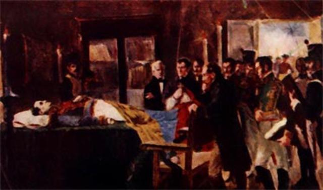 Muerte de Simon Bolivar