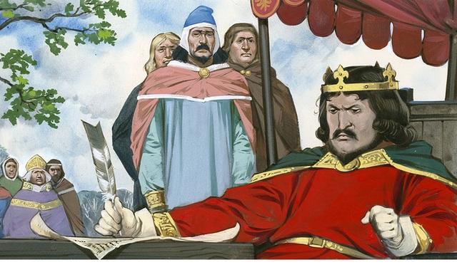 1215 KING JOHN AND THE  MAGNA CARTA