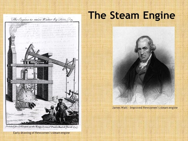 STEAM ENGINE 1736-1819 BY JAMES WATT