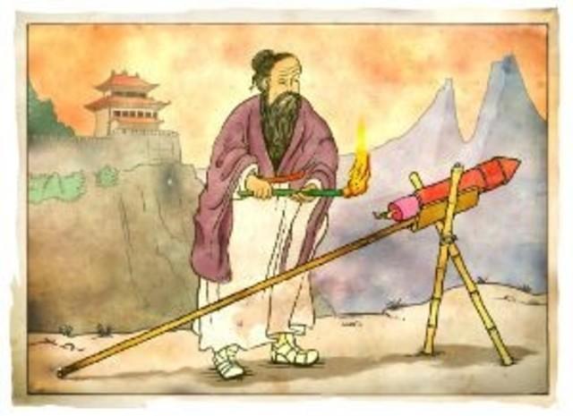 600d.C.-  Los chinos inventan los explosivos