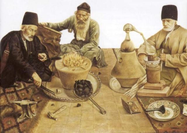 1200 d.C.-Primeras destilaciones