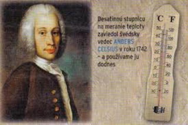1742 d.C.-  Grados Celsius