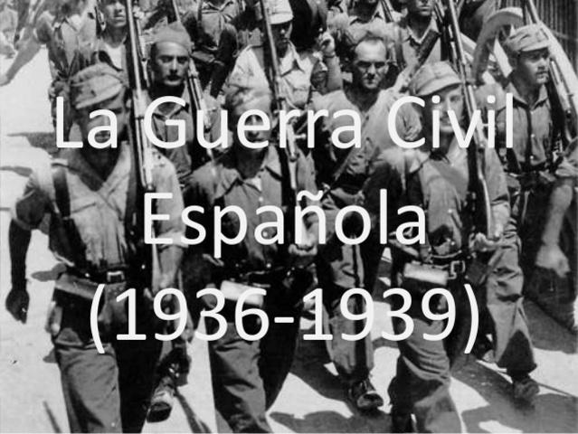 1936 Comienza la Guerra Civil en España.