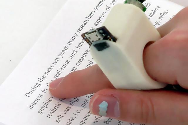 Crean anillo lector de textos