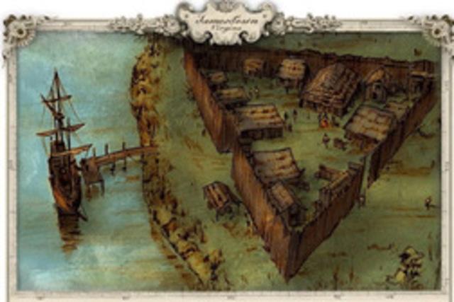 English Settlement in Jamestown, Virginia