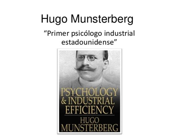 CIENCIAS DEL COMPORTAMIENTO Hugo Munsterberger 1911