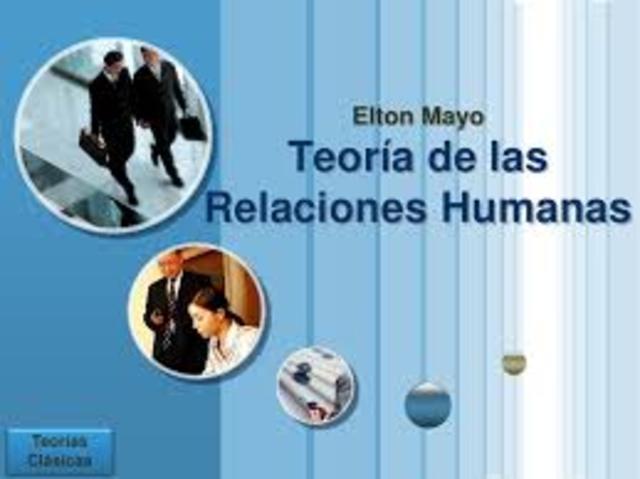 TEORÍA DE LAS RELACIONES HUMANAS  Elton Mayo 1930