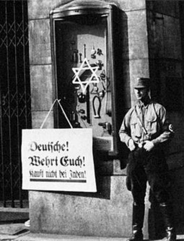 Nazi Boycott of Jewish businesses