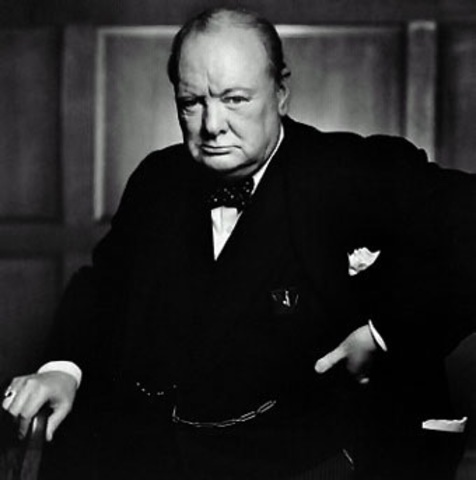 Sir Winston Leonard Spencer Churchill; Blenheim Palace, Oxfordshire, 1874 - Londres, 1965