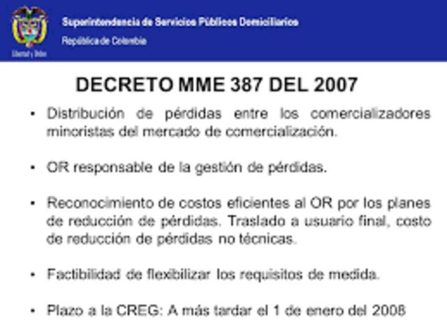 Nuevo Decreto 387 de 2007