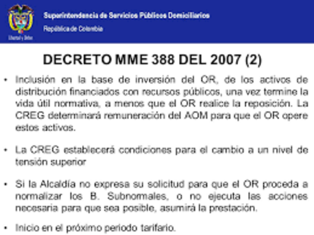 Decreto 388 de 2007