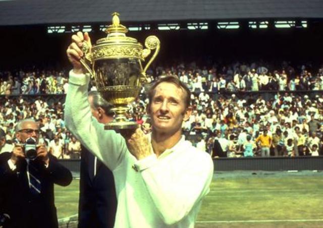 Rod Laver wins Men's Singles tennis title in Wimbledon