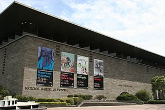 National Art gallery of Victoria opened