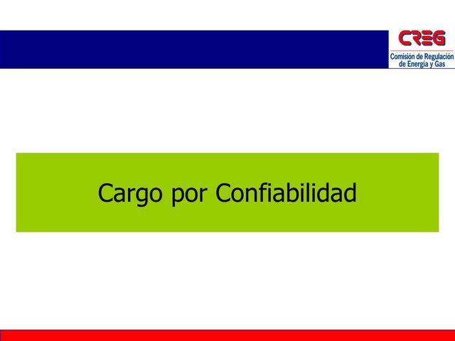 Cargo por confiabilidad (OEF)