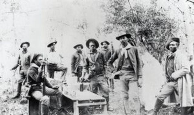 Migration to Oklahoma- Cavalry men, 1894