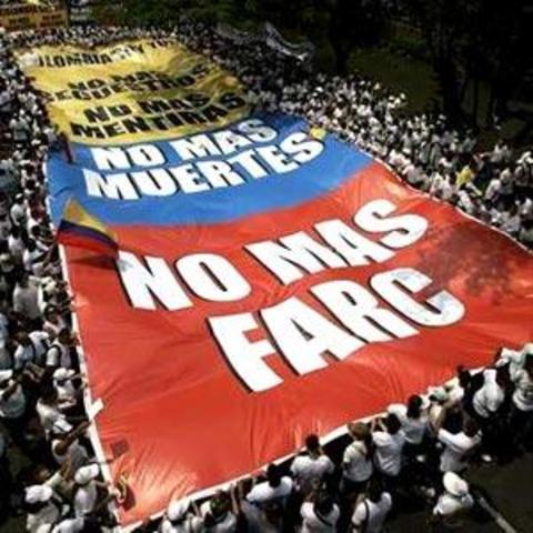 Marcha en todo el territorio colombiano y el mundo en contra de las FARC
