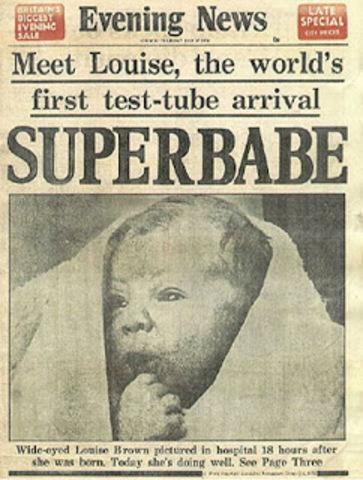 Nace el primer bebe de probeta