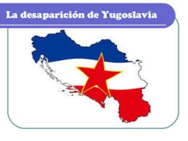 1991: Desintegración de Yugoslavia.