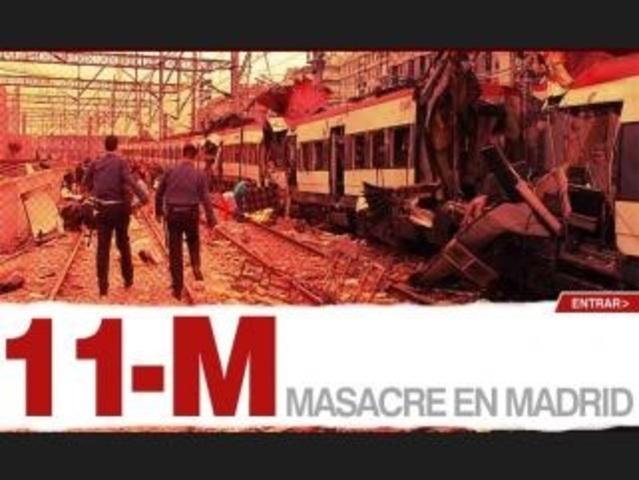 Masacre terrorista del 11-M en Madrid.