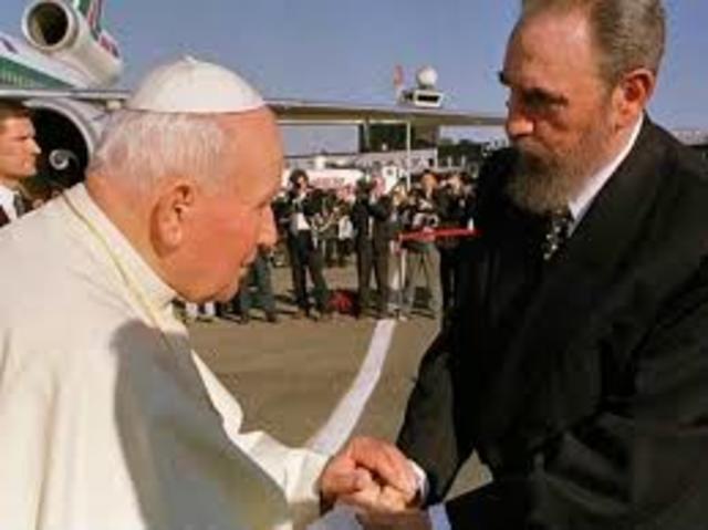 1998: Histórica visita de Juan Pablo II a Cuba.